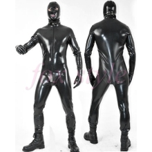 PLUS size 0.6mm thickness latex heavy catsuit black color clothes for man