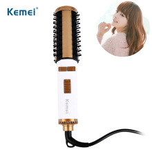 Kemei KM - 817 Fast Heating Electric Air Hair Dryer Volume Styler Brush Ceramic Curling Hairbrush Curler Salon Styling Comb