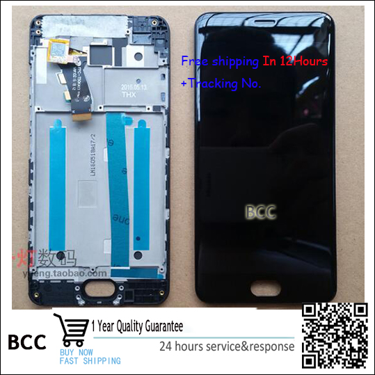 Test ok100% Original!For meizu meilan 3 M3 black LCD screen display +Touch digitizer with frame  Free shipping<br><br>Aliexpress