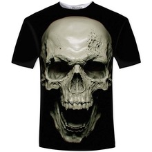 New hot men summer 3D t shirt,street fashion models love fashion skull soul chariot Rock T-shirt Men Clothes(China)