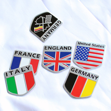 3D Aluminum car Flag sticker accessories For Subaru Forester Outback Legacy Impreza XV BRZ