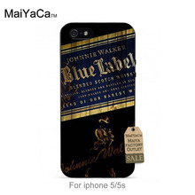 MaiYaCa soft black tpu siliconeCell Phone For iPhone se 5s 6s 7 plus Classic Whiskey Johnnie Walker Blue Label(China)