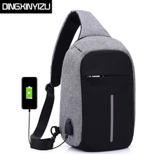Buy DINGXINYIZU Canvas Men Chest Packs Women Single Shoulder Strap Back Bag USB Charge Crossbody Bags Casual Travel Chest Bag Bolsas for $14.99 in AliExpress store