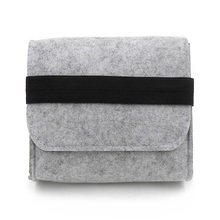 New Cheap Felt Storage Bag Mini Power Bank Case Travel Organizer For Digital Accessories Portable Gadget Pocket Pouch(China)