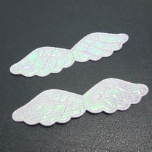 HOT 50pcs AB pretty Angel wings Appliques /diy Wedding decoration craft A122