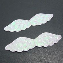 HOT 50pcs AB pretty Angel wings Appliques /diy Wedding decoration craft A122(China)
