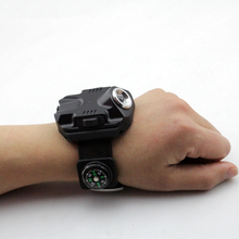 New Arrival Torch USB Charging Wrist Model Tactical Flashlight Q5 LED Wrist Watch Rechargeable Flashlamp Portable Led Flashlight(China)