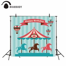 Allenjoy photography background hot air balloon carousel children Birthday theme backdrop photo studio camera fotografica