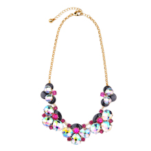 Colorful Statement Chokers Europe Women Designer Necklace Big Crystal Cluster Necklace 2016 Hot Sale(China)