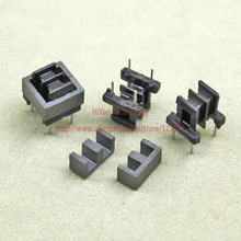 20sets/lot EE8.3 4 4 PC40 Ferrite Magnetic Core and 2 Pins + 2 Pins Side Entry Plastic Bobbin Customize Voltage Transformer