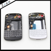 Q10 New OEM Good Quality Full Housing Back Battery Case Cover + Keypad For Blackberry Q10 Black and White(China)