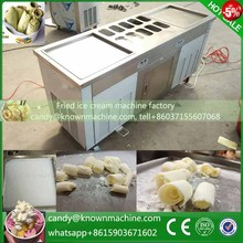 All copper coil pan stainless steel body Thailand rolled fry ice cream machine for sale