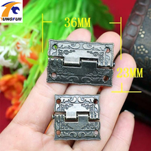 1.5-inch alloy hinge antique wooden stamp hinge 36 * 23MM Box Hinge Fast Shipping(China)