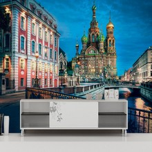 Free shipping France Paris city landscape mural cafe living room restaurant custom mall corridor hotel mural