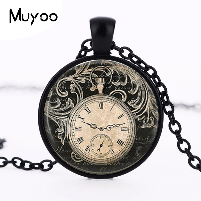 numeral flower index clock roman necklace pendant necklaces rose