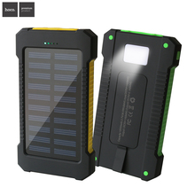 HOCO New outdoor Solar power bank real12000 mah mobile powerbank universal portable solar charger best quality solar  battery