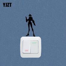 Video Game Overwatch Tracer Fashion Light Switch Girl Room Home Decoration Sticker 7SS0882
