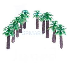 Free Shipping 10pcs 2 inch Model Palm Trees Layout Train Scale 1/400
