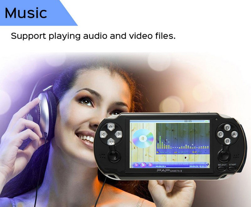HTB1Ep2Ueu7JL1JjSZFKq6A4KXXag - 4.3'' Video Game Console 64Bit Handheld Game Console Built-in 1300/650 games for GBA/CPS/NEOGEO/SNES/SMD/FC/GBC/SMS/GG mp5