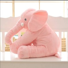 Cute New Baby Children Long Nose Elephant Doll Pillow Plush Stuff Toys Lumbar Pillow Sleep Toys