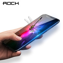 ROCK Full Screen Protector For iPhone X 10 0.23MM 3D Curved Soft Edge 9H Hardness Tempered Glass for iPhoneX Glass Film(China)