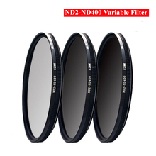 37/40.5/43/46/49/52/55/58/62/67/72/77/82/86mm ND Fader ND2-400 Variable Neutral Density Filter for Canon Nikon Sony Camera Lens