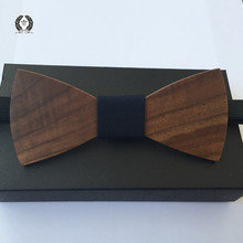 Elegant men wooden bow tie Accessory wedding Wood Bow Tie For Men Butterfly Neck Ties Christmas Gift free shipping