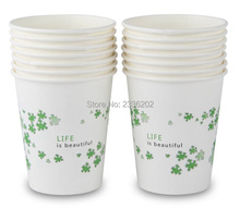 Low MOQ Mini Order 1000pcs Free Shipping 9oz Single Wall Paper Cup Custom Logo Offer Design Template(China)