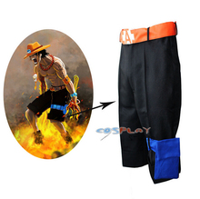 Portgas D Ace One Piece Cosplay Costumes Jepanese Anime Pants Cartoon Masquerade Party Show Cool  Clothes  For Man Boy