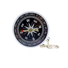 Lightweight Keychain Outdoor Camping Plastic Compass for Hiking Hiker Navigation tool Camping Military Navigator Equipment #WF34