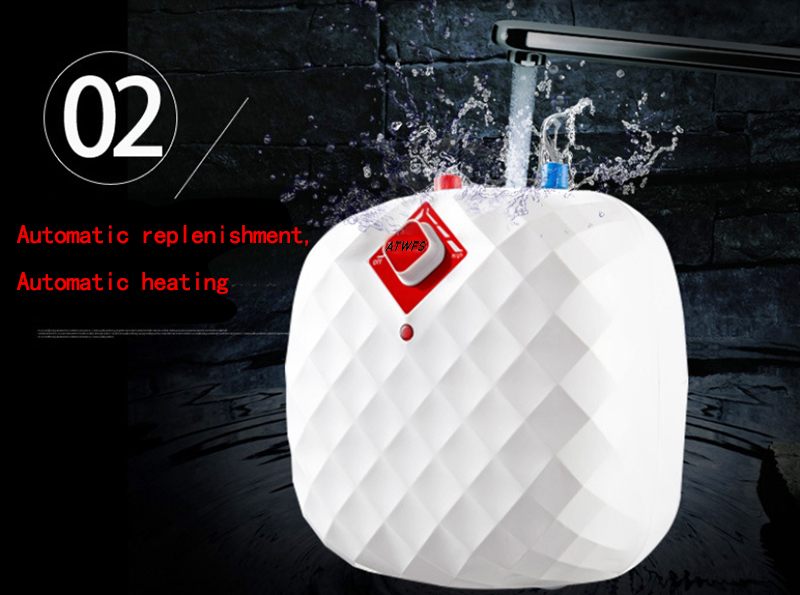 User-Friendly Household Mini Water Heater 8L 1500W Smart Kitchen Instantaneous Water heating machine with CE RoHS certificate