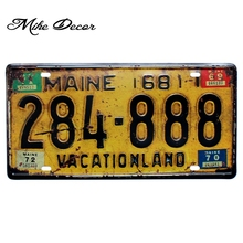 [ Mike86 ] VACATIONLAND  Maine Classic painting decor Retro Gift Craft Metal sign Pub decoration D-523 Mix order 30*15 CM