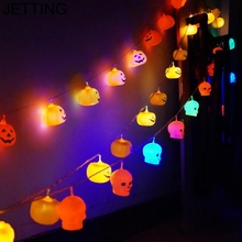 HENGHOME 1Pcs Garden Party Christmas Decoration16pcs Halloween Pumpkin Hanging Fairy String lights for Halloween Lighting(China)