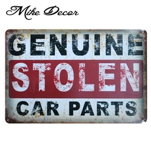 [ Mike86 ] GENUINE CAR PARTS Vintage Metal Tin Sign Party Wall Plaque Poster Painting Garage Decoration 20*30 CM AA-769