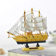 3D 15cm Sailing Boat Wood Clipper Ship Model Sailboat Wooden Decor Toy Hand Crafted Free Shipping &Drop Shipping(China)