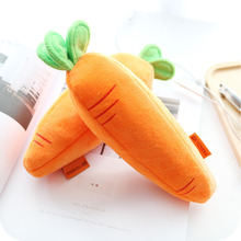 1Pcs Creative Carrot Pencil Plush Case Stationery Storage Organizer Bag School Office Supply Escolar