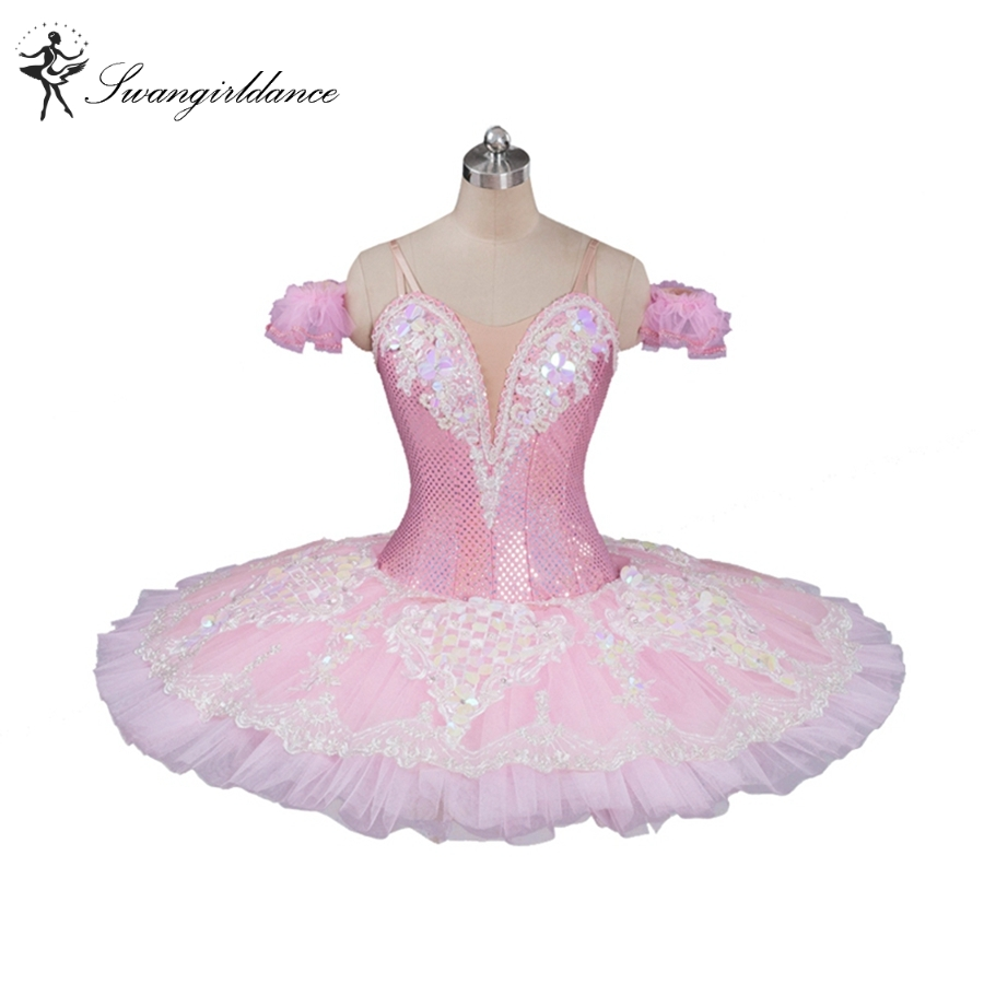pink peach fairy professional ballet tutu classical ballet tutu for girls pancake tutu with lace ballerina tutusBT9087