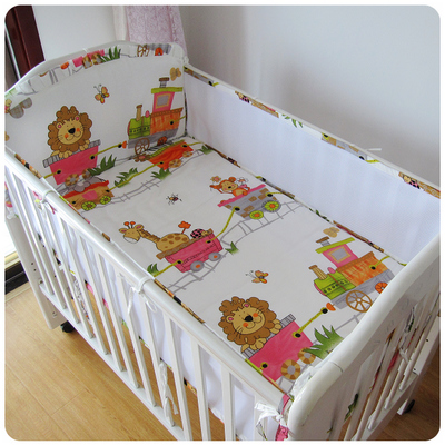 Promotion! 5PCS Mesh Cotton Baby Bedding Set of Detachable Bed Bed By Bed Set Baby Bumpers,(4bumpers+sheet)<br><br>Aliexpress