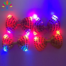 5pcs/lot Led Luminous Neck Tie Mixcolor Flashing Male Female Fashion Bow Tie Party wedding Dancing Stage Glowing Tie