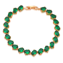 New Brand Design Fresh Peridot Bracelets  Gold tone Green Crystal Wholesale & Retail Fashion jewelry TB842A