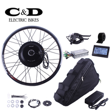E-bike Electric Bike Conversion kit 48V1000W Driect Drive Motor MXUS Brand 48V12AH Triangle Bag Battery LED LCD Display Optional