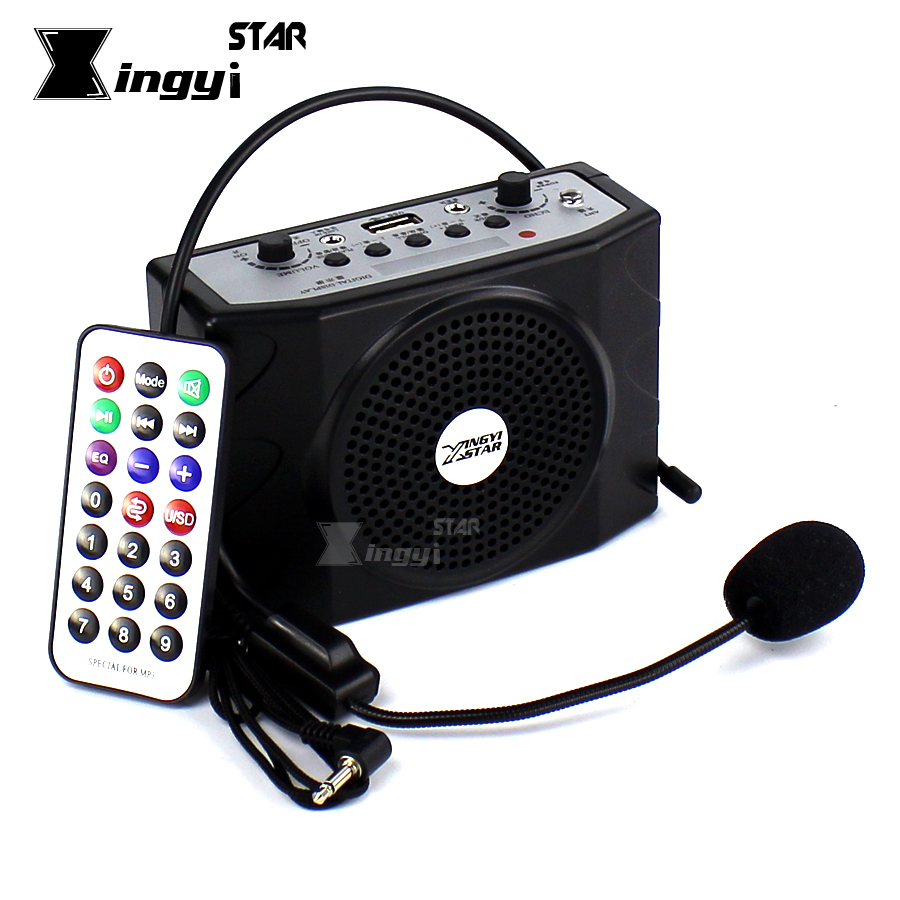 Loudspeaker With Headset Microphone Voice Amplifier Audio Booster Megaphone Portable Speaker USB MP3 Player Teaching Tour Guide<br>