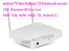 Kaiboer C9 Chinese language Android TV Box Allwinner H8 Octa Core 8 Core 1GB / 16GB 4K FHD H.265 TV Network Media Player Kodi