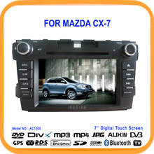 "7"" Car DVD Player GPS Navigation TV Bluetooth steering Wheel Controller DVB/ISDB(option) For Mazda CX-7 CX7 CX 7"