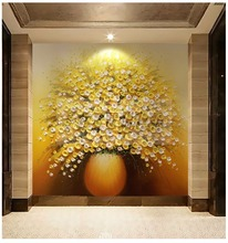 Non woven fabric/Vinyl Wallpapers type Custom photo wallpaper 3D FLower Designs TV background 3d mural wall paper