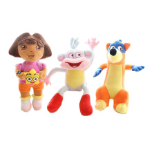35cm Dora & Fox & Monkey Cartoon Movie Girls Plush Dolls Toys