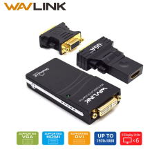 Wavlink USB 2.0 to DVI/VGA/HDMI Video Graphics Display Adapter (HDTV CRT LCD Projector) displaylink Supports Windows 10/8.1/8/7