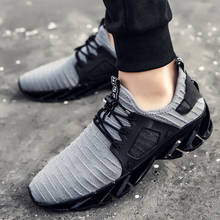2018 hot sale spring summer fashion trend men sneakers size 39-44 comfortable breathable lace-up gray black casual male shoes(China)