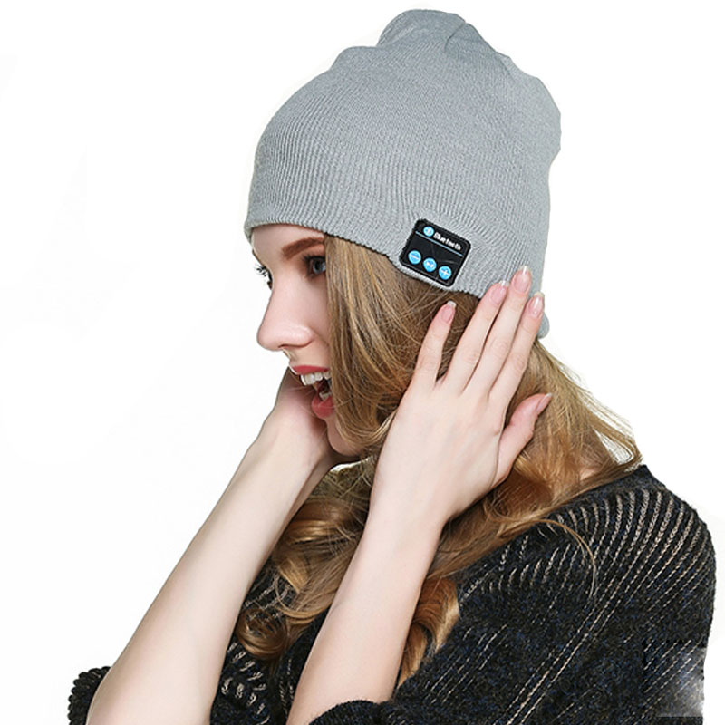 Bluetooth Smart Caps Headset Wireless Beanie Knitted Winter Hat Speaker Mic Music Cap Sports Soft Warmhats For Boy Girl Amp M5-4Одежда и ак�е��уары<br><br><br>Aliexpress