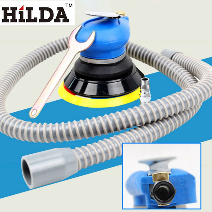 HILDA 5inches Random Orbital Air For Palm Sander &amp; Car Polisher Vacuum Cleaner Set Tool  Machine Powewr Tools<br>